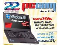 "Lenovo Thinkpad T430S i5 4GB 500GB DVD 14"" W10"